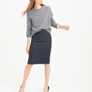 J. Crew No. 2 Pencil Skirt - 100% Wool